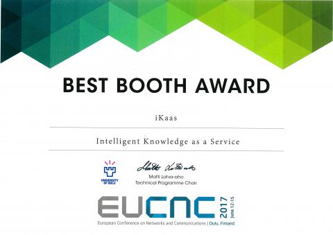 EUCNC Best Booth Award 2017